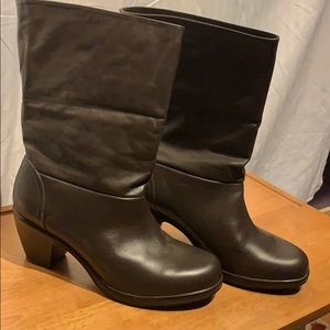 Dansko brown leather boots size 12